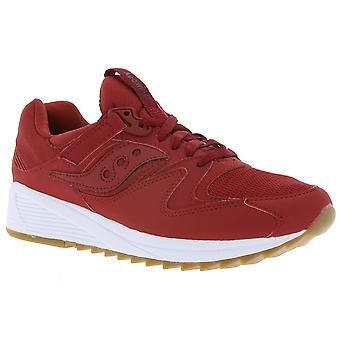 Saucony grid 8500 men's sneaker red athletic shoes