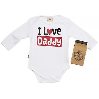 Spoilt Rotten I Love Daddy Babygrow 100% Organic Cotton