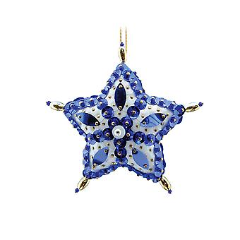 Pinflair Sequin & Pin Craft Kit - 2 Blue Star Christmas Bauble Ornaments