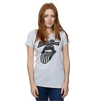 Rolling Stones kvinders monokrom amerikanske tungen T-Shirt