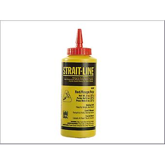 Irwin Red Chalk Line 4Oz Bottle Refill Builders Brick Line Powder 64902