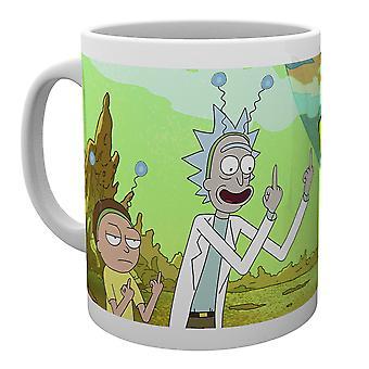 Rick e Morty paz caneca