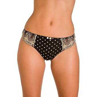 Camille Ladies Lingerie Black Gold Thong
