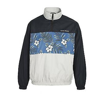 Heros Heldin Floral Print Windbreaker Jacke | Schwarz grau