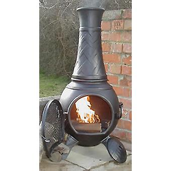 CASTMASTER Heavy Weight Basketweave Cast Iron Chiminea