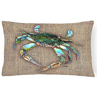Carolines skatter 8731PW1216 krabba Canvas tyg dekorationskudde