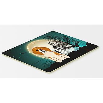 Halloween de miedo Beagle Tricolor cocina o alfombra de baño 20 x 30