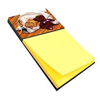 حامل Sticky Note كارولين الكنوز AMB1003SN الإنجليزية البلدغ ودب