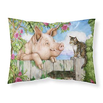 Pig at the Gate with the Cat Fabric Standard Pillowcase