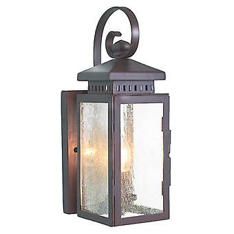 Elstead Hythe wrought iron exterior wall lamp, IP23