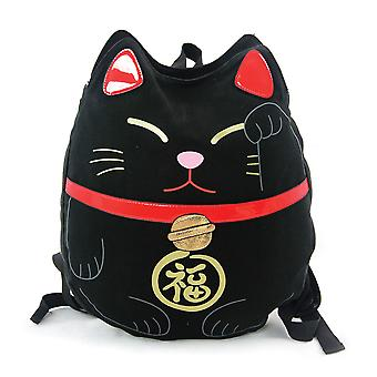 Lucky Cat Top Load Canvas Backpack