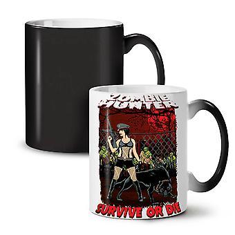 Survival Hunter Zombie NEW Black Colour Changing Tea Coffee Ceramic Mug 11 oz | Wellcoda