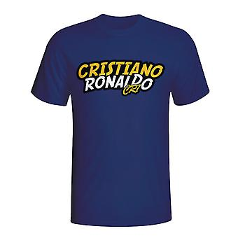 Cristiano Ronaldo Comic Book T-shirt (Navy) - Kids