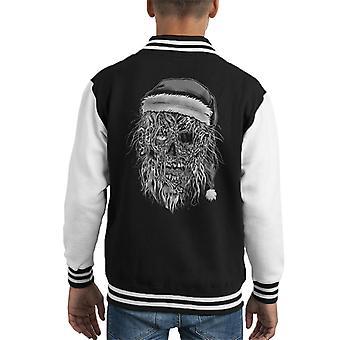 Zombie Santa Kid's Varsity Jacket