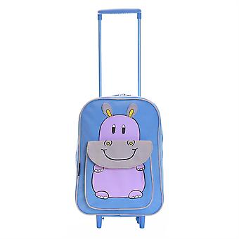 Karabar la faune Hippo Kids sac Trolley, bleu