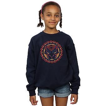 Marvel Girls Black Panther Tribal Panther Icon Sweatshirt