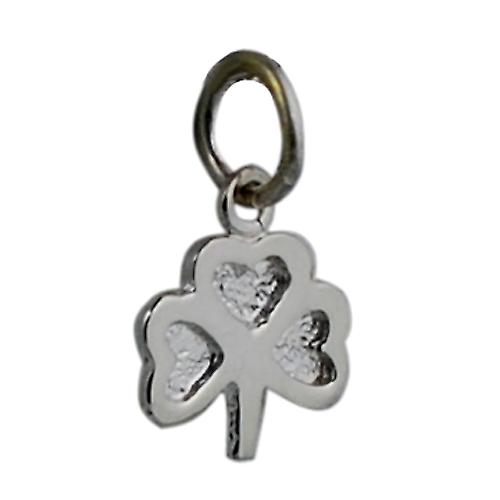 Silver 9x9mm plain Shamrock Charm
