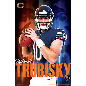 Chicago Bears - Mitch Trubisky Poster Print