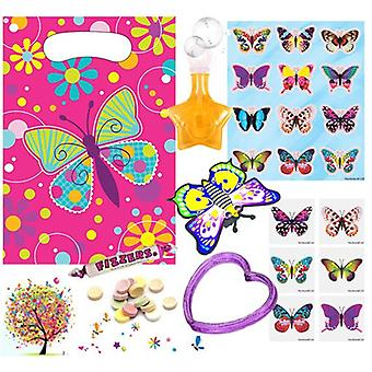 Pre Filled Ready Made Party Bag - Unisex - Butterfly (Single )