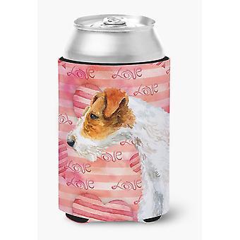 Carolines Treasures  BB9737CC Fox Terrier Love Can or Bottle Hugger