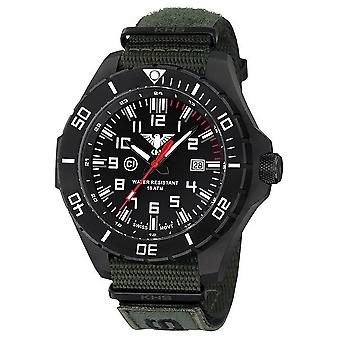 KHS watches mens watch black steel KHS country leader. LANBS. NXTO1