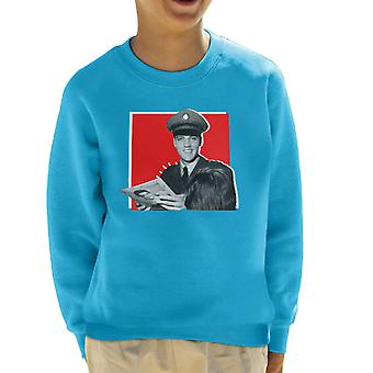 Elvis Presley Signing Autographs Army Uniform Pop Art Kid's Sweatshirt