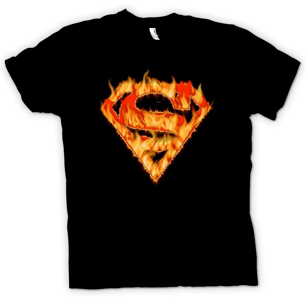 Mens T-shirt - Superman - Flame Logo
