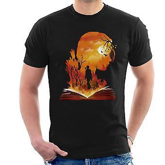 Hunger Games Katniss Silhouette Sunset Men's T-Shirt