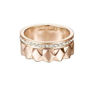ESPRIT women's ring stainless steel Rosé JW52891 cubic zirconia ring set ESSE11041C1
