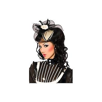Barbette Fascinator With Black Net And Trim