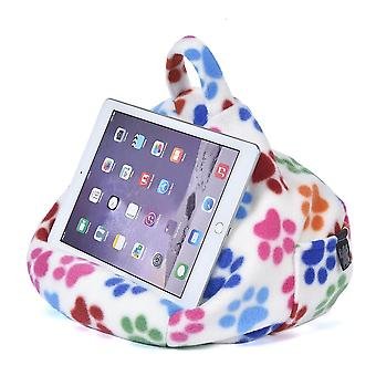 Ipad, tablet & ereader bean bag stand by ibeani - paw print