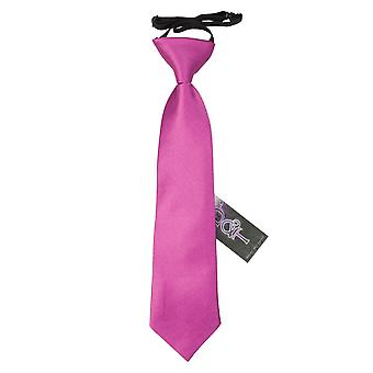 Mulberry Plain Satin Elasticated Tie for Boys