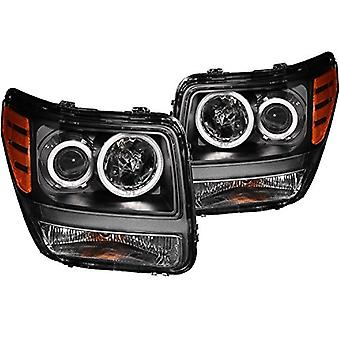 Anzo USA 111140 Dodge Nitro Projector Halo Black Clear AmberHeadlight Assembly - (Sold in Pairs)
