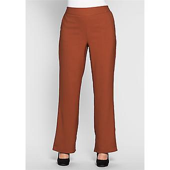 abdulgaffar casual high-waist trousers for size large size Brown