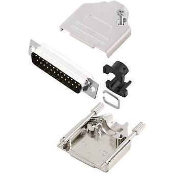 MH Connectors MHDTZK25-DB25P-K D-SUB pin strip set 180 ° Number of pins: 25 Solder bucket 1 pc(s)