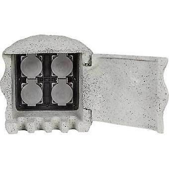 Heitronic 37505 Striscia presa resistente alle intemperie 4x Grigio