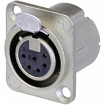 Neutrik NC6FD-LX XLR connector Sleeve socket, straight pins Number of pins: 6 Silver 1 pc(s)