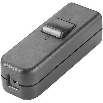 InterBär 8006-004.01 Zugschalter schwarz 1 X Off/On 6 1 PC