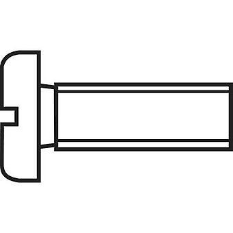 TOOLCRAFT 888680 Allen screws M2.5 10 mm Slot DIN 84 Steel zinc plated 1 pc(s)