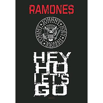 Ramones Hey Ho Let'S Go Large Fabric Poster / Flag 1100Mm X 750Mm