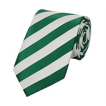 Tie tie tie tie 8cm green Fabio Farini white striped