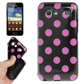 Skyddsfodral för mobil Samsung Galaxy S advance i9070 svart / rosa