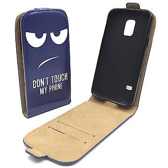 Handyhülle Tasche für Handy Samsung Galaxy S5 / S5 Neo Dont Touch my Phone