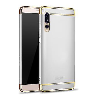 Etui de téléphone portable pour Huawei P20 Pro pare-chocs 3 en 1 couvercle chrome argent affaire