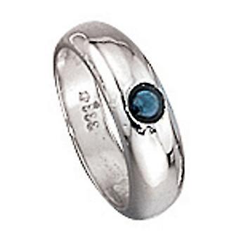 Anello ciondolo BARNABY oro 333 di battesimo blu zaffiro