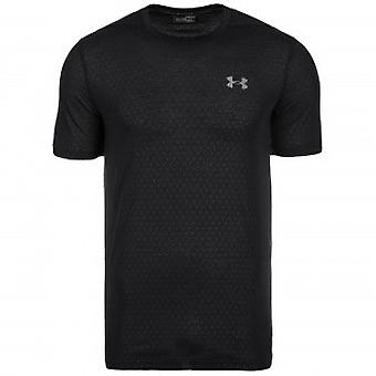 Under Armour męski T-Shirt Threadborne tłoczone czarny 1289589-001
