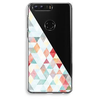 Honor 8 Transparent Case (Soft) - Coloured triangles pastel