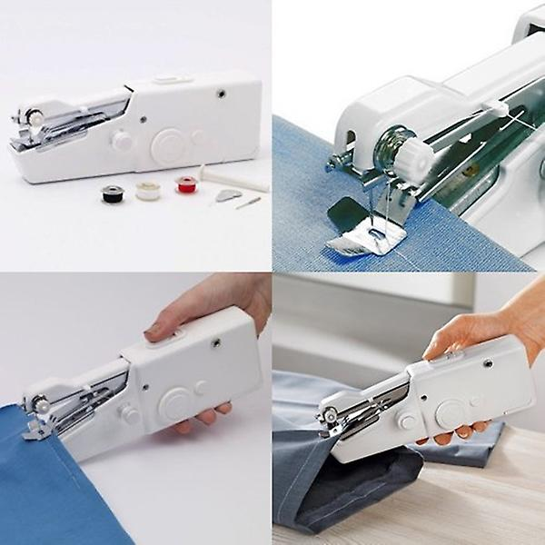 Babz Mini Hand Held Sewing Machine Portable With Battery / Mains Powered