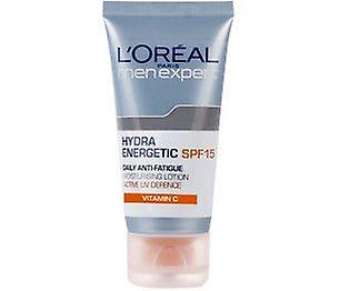 Anti Expert Moisturising Hydra 50ml L'oreal Spf15 Daily Lotion Energetic Men fatigue mNwOvn0y8