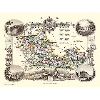 Old Map of Berkshire 1836 by Thomas Moule 1000 Piece Jigsaw Puzzle (jhg)